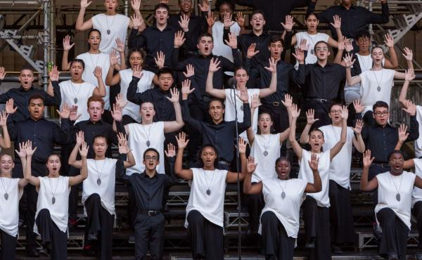 The Young People's Chorus of New York City, performing back in better times.
