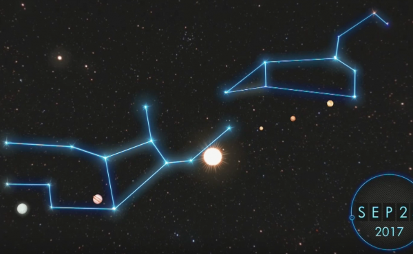 Screen shot from The Sign, a documentary in which biblical literalists claim the end is coming on Sept. 23 with a specific planetary alignment.