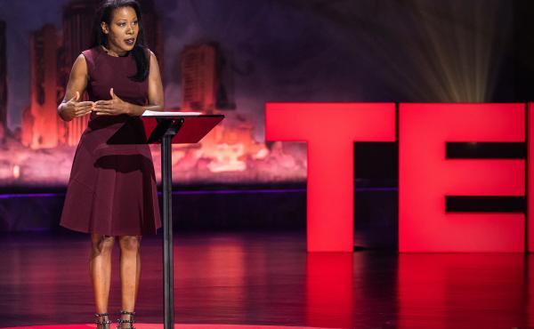Isabel Wilkerson speaks at TEDWomen 2017 — Bridges, November 1-3, 2017, Orpheum Theatre, New Orleans, Louisiana. Photo: Stacie McChesney / TED