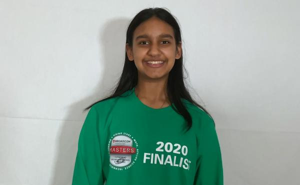 Ishana Kumar, 12, a 7th grader from Chappaqua, N.Y., on Wednesday won a top science award for a project on perception of imaginary colors.