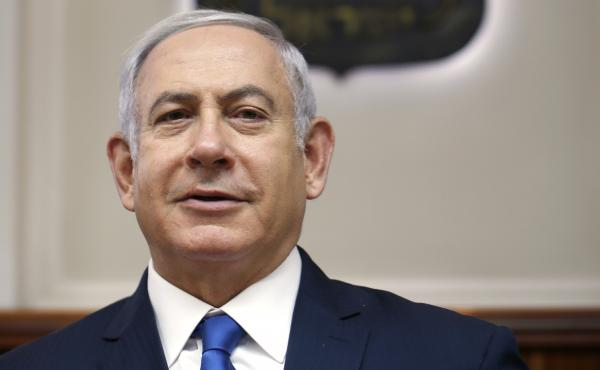 Israeli Prime Minister Benjamin Netanyahu attends the weekly cabinet meeting at his office in Jerusalem on July 15.