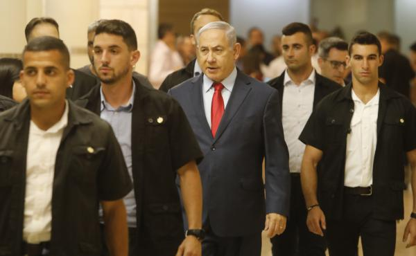 Israeli Prime Minister Benjamin Netanyahu on Wednesday in the Knesset, Israel's parliament in Jerusalem.