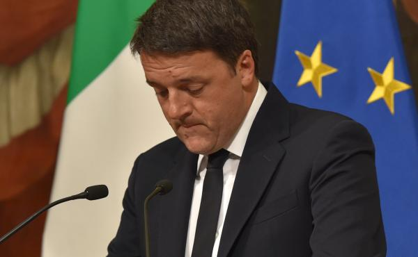 Italian Prime Minister Matteo Renzi announces his resignation during a press conference in Rome, after the results of Sunday's referendum on constitutional reforms.