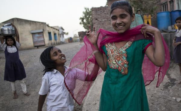 """""""I want to grow up and become a police. But I need to study in a good school for that. I want to become a police to protect the country."""" - Fiza, 13, India"""