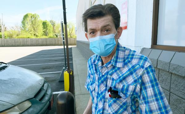 """Hartsville, Tenn., resident Rick Bradley, 62, received his first COVID-19 vaccine dose in late March at a local Walgreens, saying, """"This is not a summer cold or a conspiracy."""" He says some neighbors have become so used to COVID-19 that getting vaccinated"""