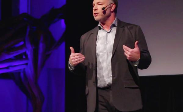 Jackson Katz on the TED stage.