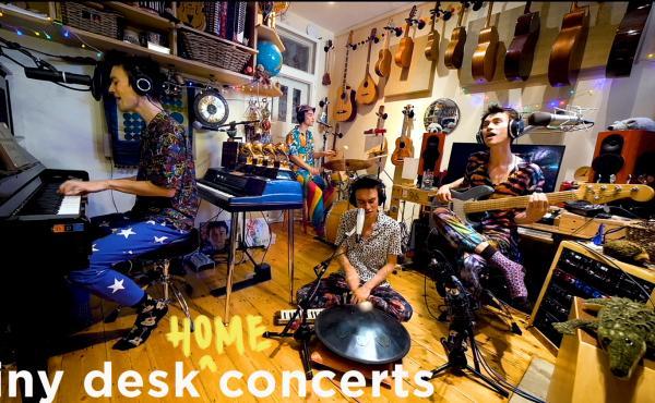 Jacob Collier plays a Tiny Desk (Home) concert.