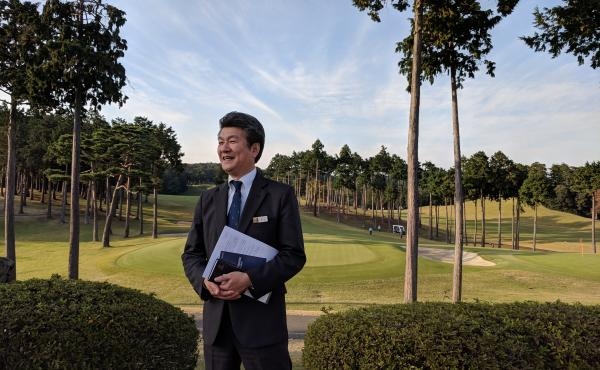Takashi Yanaoka, president of the Musashigaoka Golf Course outside Tokyo, says tee times are booked at about 90 percent here. But it bucks an industry-wide downward trend.