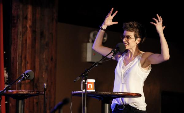 Jenn Colella appears on Ask Me Another at the Bell House in Brooklyn, New York.