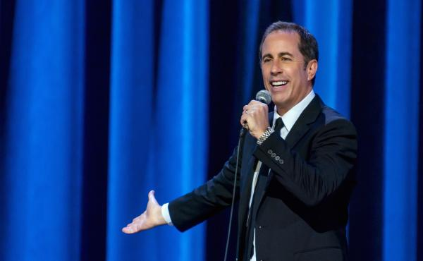 """Jerry Seinfeld pictured in his Netflix special, 23 Hours to Kill. He says he's """"adjusted pretty comfortably"""" to life at home."""