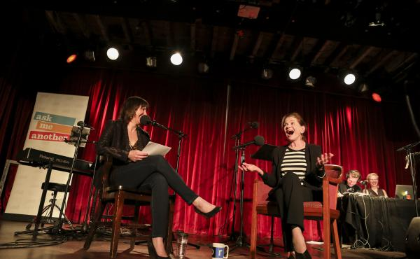 Ophira Eisenberg chats with actor Jessica Walter on Ask Me Another at the Bell House in Brooklyn, New York.