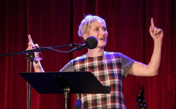Jill Sobule appears on Ask Me Another at the Bell House in Brooklyn, New York