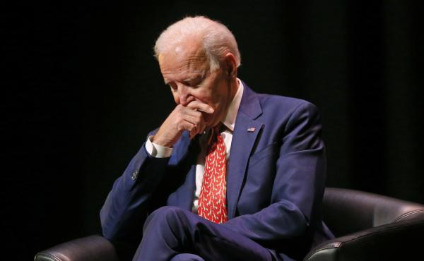 Former Vice President Joe Biden pauses as he speaks at the University of Utah in December. Allegations of inappropriate contact with women are putting Biden's potential campaign hopes in jeopardy.
