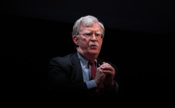 Former national security adviser John Bolton, here at a February event in North Carolina, is releasing a memoir with strong allegations of misconduct against President Trump. But Bolton's accusations are notable for the splash they aren't making.