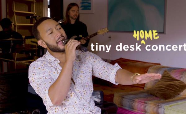 John Legend plays a Tiny Desk (home) concert.