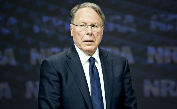 National Rifle Association CEO Wayne LaPierre at the group's annual meeting in Dallas in May 2018. A secretive figure, LaPierre makes few public appearances outside of carefully scripted speeches.