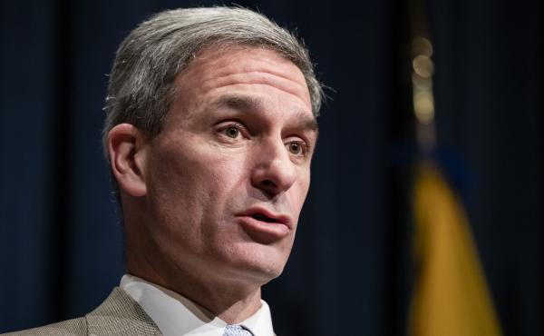 Ken Cuccinelli speaks on Feb. 7 in Washington, D.C. A federal judge said his appointment to lead USCIS was unlawful.