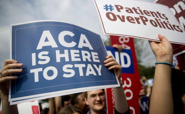 In 2015, demonstrators in Washington, D.C., urged Supreme Court justices to save the Affordable Care Act from a legal challenge. The federal health law survived, but last week U.S. District Judge Reed O'Connor ruled it invalid. An appeal of his controvers
