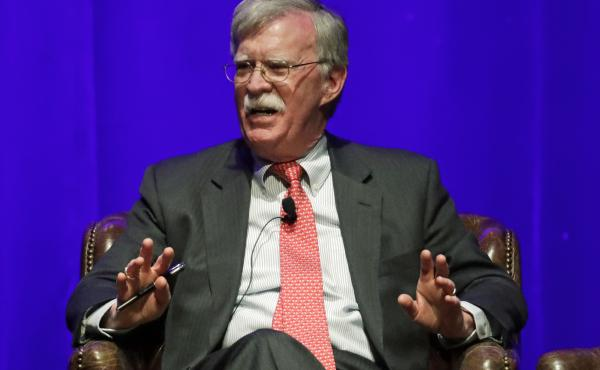 Former national security advisor John Bolton, seen in February, is scheduled to publish a memoir of his time with the Trump administration on June 23, and the Justice Department is trying to block publication.
