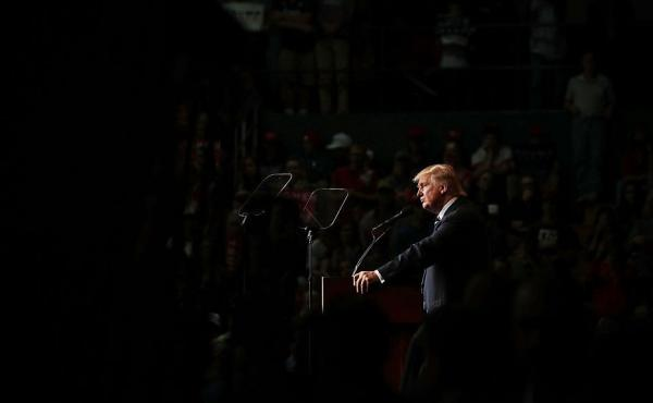 Republican presidential nominee Donald Trump at a campaign rally in Eau Claire, Wisc. on Nov. 1, 2016.