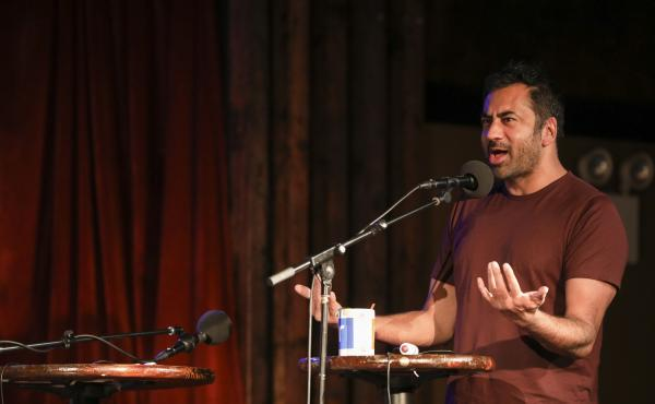 Kal Penn appears on Ask Me Another at the Bell House in Brooklyn, New York.