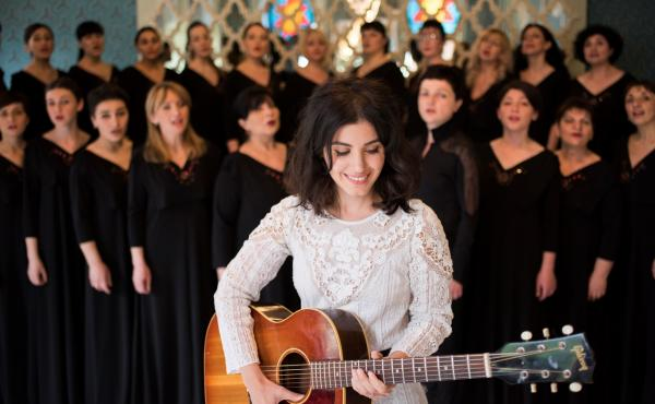 For her latest album, Georgian-British artist Katie Melua returned to her home country to record with the 23-piece Gori Women's Choir.