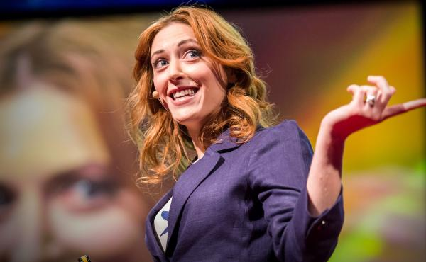 Kelly McGonigal on the TED stage