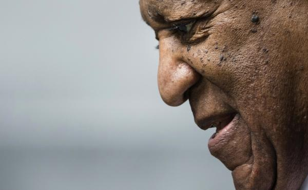 Bill Cosby departs after a pretrial hearing in his sexual assault case at the Montgomery County Courthouse in Norristown, Pa.,  Aug. 22, 2017. He was found guilty last month on three counts.