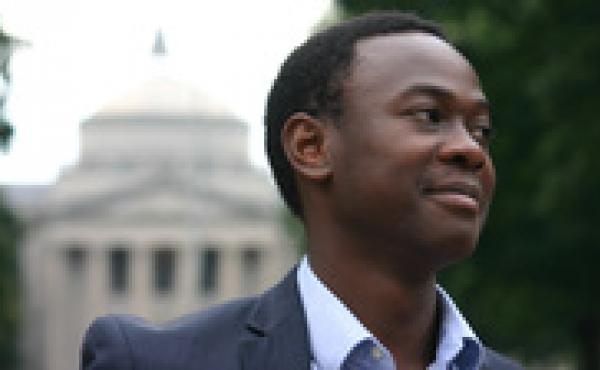 Bradley Opere, student body president at the University of North Carolina Chapel Hill, is a trailblazer in a blazer.