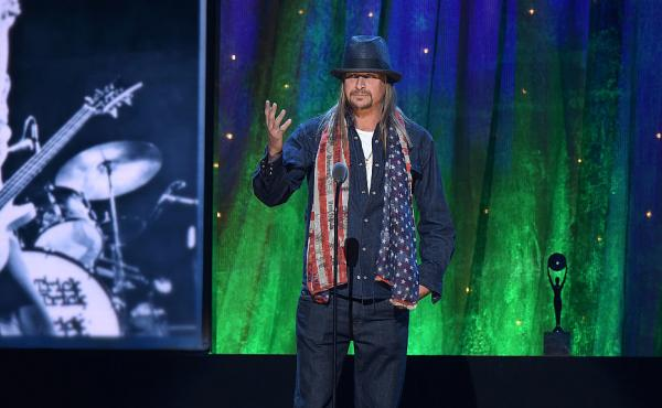 Kid Rock at the 2016 Rock And Roll Hall Of Fame Induction Ceremony in New York City. He says he plans to run for Senate as a Republican in Michigan.
