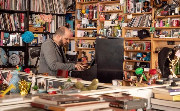 Kirill Gerstein performs at NPR's Tiny Desk, Washington, D.C. on January 28th, 2020.
