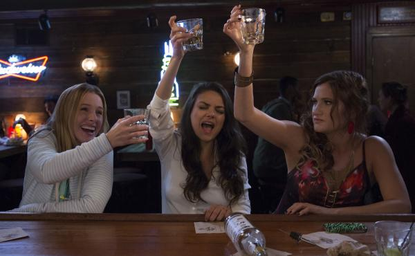Kristen Bell, Mila Kunis and Kathryn Hahn play suburban moms Kiki, Amy and Carla in Bad Moms.