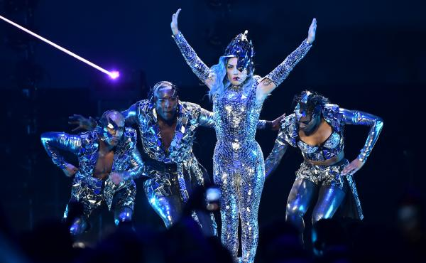Lady Gaga performs in Miami in February. Following a turn to traditional pop and roots rock on recent projects, the singles from her forthcoming sixth album, Chromatica, have indicated a return to the maximalist dance pop that first made her famous.