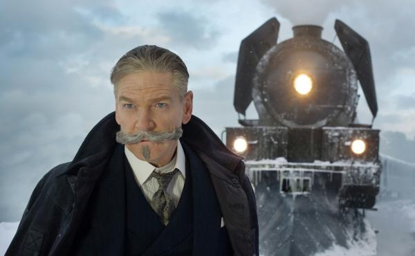 The mustache should get second billing: Kenneth Branagh is Hercule Poirot in Murder on the Orient Express.