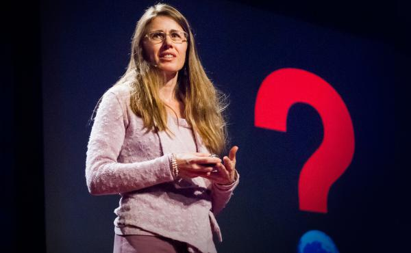 Laura Trice on the TED stage.