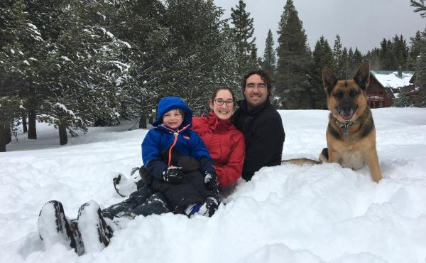 Wendy Root Askew with her husband Dominick Askew and their son. When the little boy (now 6) was born, Root Askew struggled with postpartum depression. She likes California's bill, she says, because it goes beyond mandatory screening; it would also require