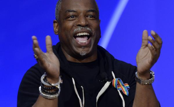 """LeVar Burton, here in Los Angeles in 2016, told The New York Times that he feels like hosting Jeopardy! """"is what I'm supposed to do."""" This week, he gets his turn at the host lectern left vacant by Alex Trebek, who died last year at age 80."""