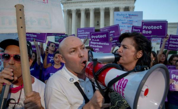 Protesters on both sides of the abortion debate demonstrated in front of the U.S. Supreme Court in July concerning Justice Brett Kavanaugh's confirmation. It is thought that a challenge to Roe v. Wade could have a chance of passing now that he is confirme