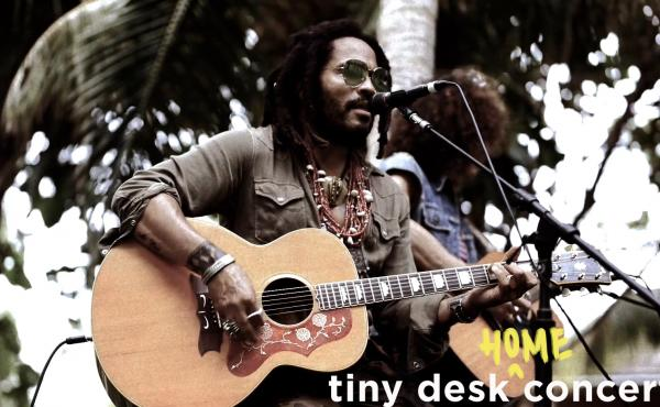 Lenny Kravitz plays a Tiny Desk (Home) concert.