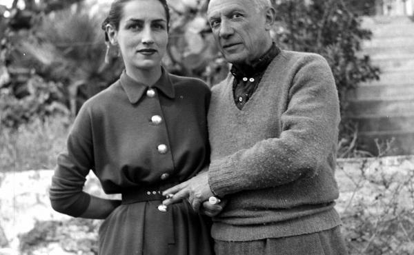 Pablo Picasso and Francoise Gillot in 1951.