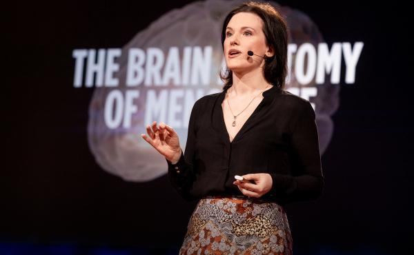 Lisa Mosconi speaks at Shoham Arad speaks at TEDWomen 2019: Bold + Brilliant, December 4-6, 2019, Palm Springs, California. Photo: Jasmina Tomic / TED