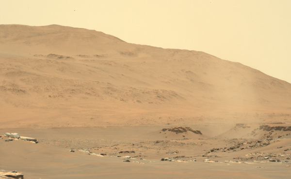 NASA's Perseverance Rover shared the sights of Mars when it took this picture in June. Now it is sharing the sounds of the Red Planet.