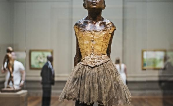 """""""Little Dancer,"""" a sculpture by French artist Edgar Degas, is seen at the National Gallery of Art in Washington, D.C., on July 16, 2014."""