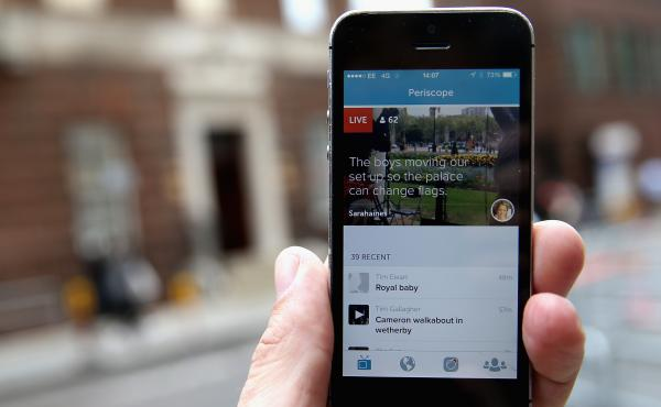 With the Periscope app, owned by Twitter, it's easy for smartphone users to stream their own video live.
