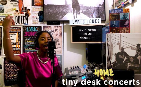 Lyric Jones plays a Tiny Desk (home) concert.
