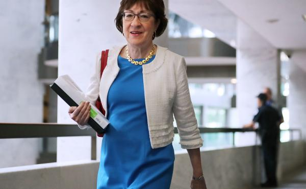 Sen. Susan Collins, R-Maine, announced Friday that she plans to remain in the Senate rather than run to be Maine's next governor.