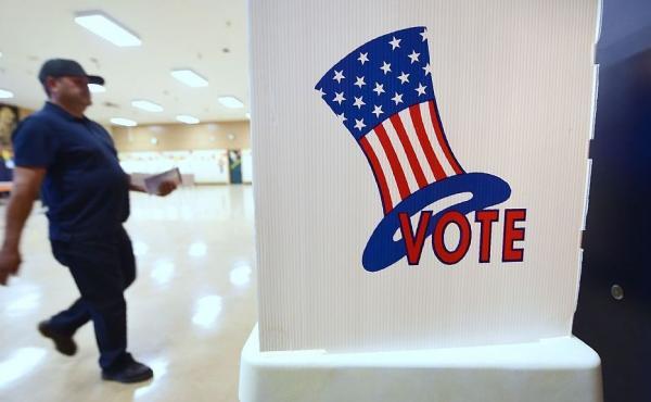 People vote on on November 8, 2016 in Los Angeles.