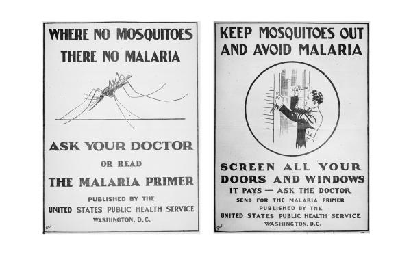Posters from the U.S. Public Health Service issued in 1920.