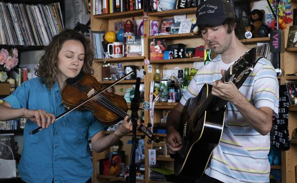 Mandolin Orange plays a Tiny Desk Concert on June 21, 2019 (Shuran Huang/NPR).