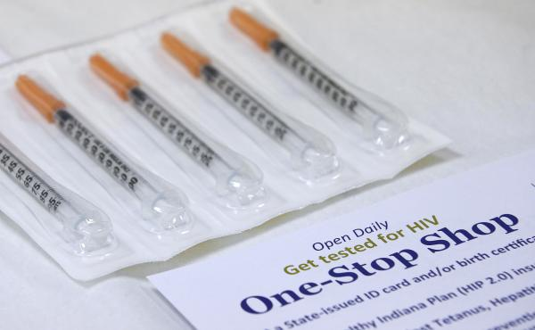 A needle exchange program at the Austin Community Outreach Center in Austin, Ind., is aimed at stopping spread of HIV.